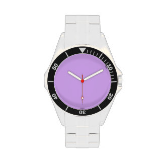 Código e0b0ff del maleficio de la violeta de color relojes de mano