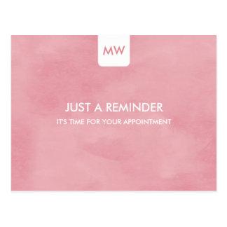 Código elegante rosado simple del recordatorio QR Postales