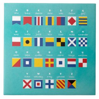 Código internacional del alfabeto de las señales azulejo de cerámica