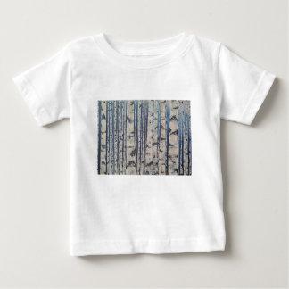 Código Morse de los árboles de abedul Camiseta De Bebé