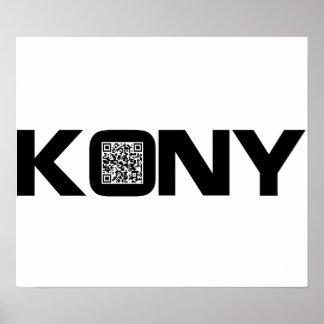 Código video José Kony de Kony 2012 QR Póster