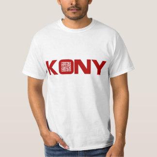Código video José Kony del rojo QR de Kony 2012 Camiseta