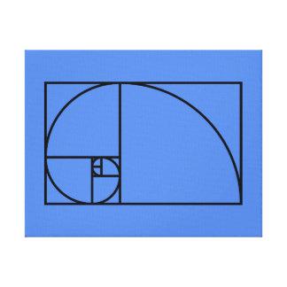 Coeficiente de oro de Fibonacci - arte matemático