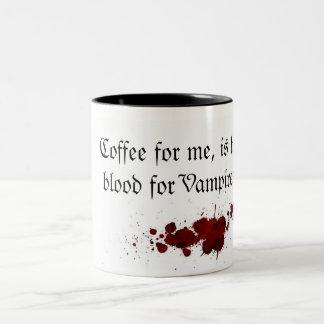 Coffee as Blood Taza De Café De Dos Colores