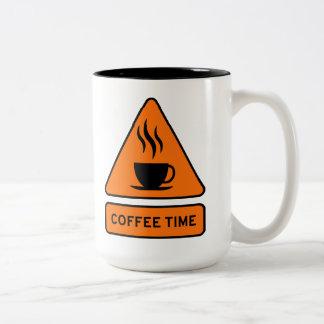 Coffee Time Hazard 15oz Mug Taza Bicolor