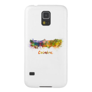 Coimbra skyline in watercolor funda para galaxy s5