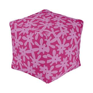 Cojín cúbico Jimette Diseño rosado y fucsia