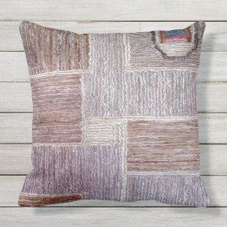 Cojín De Exterior Arte de cuero original de la alfombra