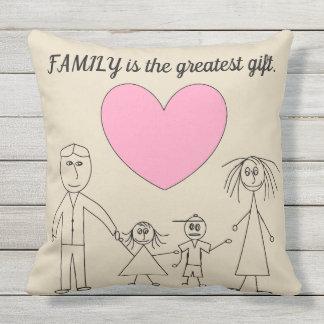Cojín De Exterior La FAMILIA es la familia linda del palillo del