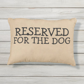 Cojín De Exterior Reservado para la novedad del perro