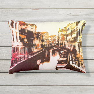 Cojín De Exterior Venedig, arco iris Popart del panorama de Venecia