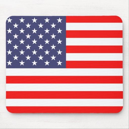 Cojín de ratón de la bandera americana alfombrilla de ratón