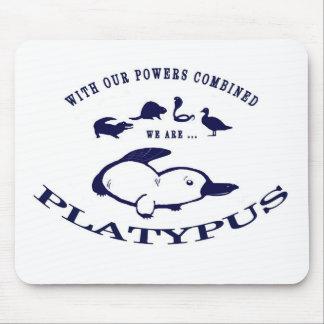 Cojín de ratón de Platypus - azul Alfombrilla De Ratón
