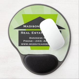 Cojín de ratón del gel del logotipo de la casa de alfombrillas de raton con gel