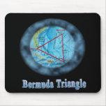 cojín de ratón del triángulo de Bermudas Alfombrillas De Ratón