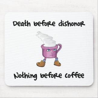 Cojín de ratón divertido del amante del café alfombrilla de ratón
