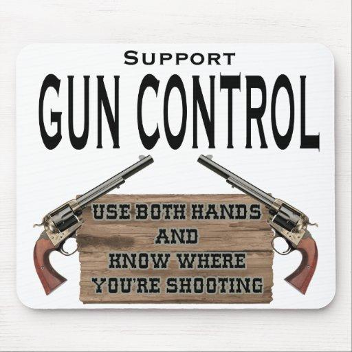 Cojín de ratón divertido del control de armas #1 alfombrilla de ratón
