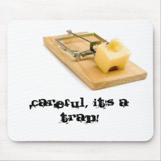 Cojín de ratón divertido - trampa del ratón alfombrilla de ratón