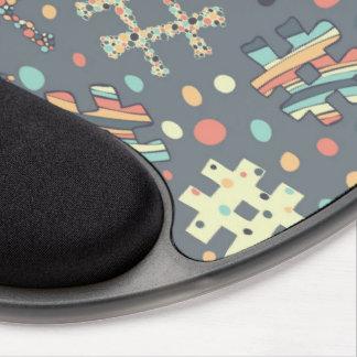 Cojín de ratón elegante de la etiqueta del hachís alfombrilla de ratón con gel