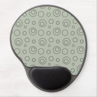 Cojín de ratón geométrico retro enrrollado del cír alfombrilla gel