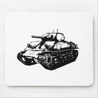 Cojín de ratón Greyscale del ejemplo del tanque de Alfombrilla De Ratón