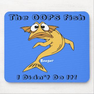 Cojín de ratón - OOPS los pescados (pescados anima Tapete De Ratón