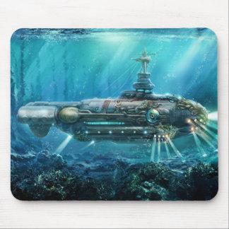 Cojín de ratón submarino de Steampunk Alfombrilla De Ratón