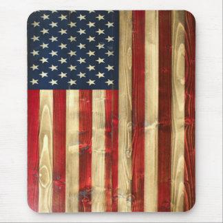 Cojín de ratón vertical de la bandera americana alfombrilla de ratón