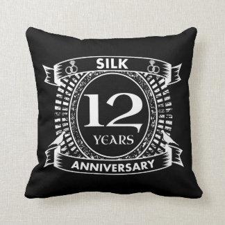 Cojín Decorativo 12ma seda del aniversario de boda