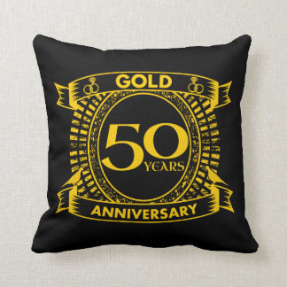 Cojín Decorativo 50.o Aniversario de boda del oro