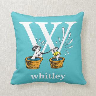 Cojín Decorativo ABC del Dr. Seuss: Letra W - El blanco el | añade