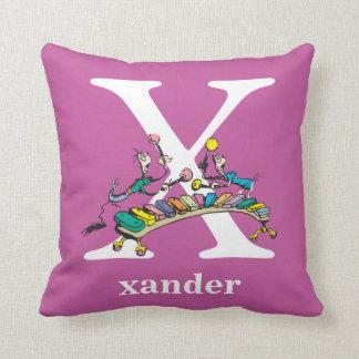 Cojín Decorativo ABC del Dr. Seuss: Letra X - El blanco el | añade