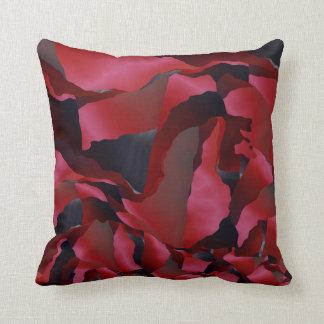 Cojín Decorativo Abstracción desgastada rojo