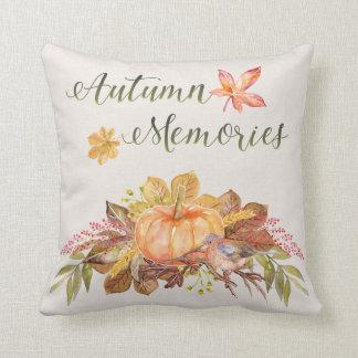 """Cojín Decorativo Acción de gracias - """"memorias del otoño"""" -"""
