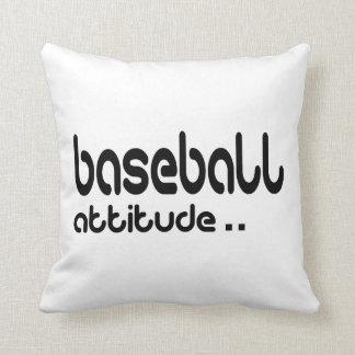 Cojín Decorativo Actitud del béisbol