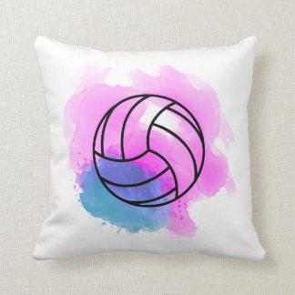 Cojín Decorativo Acuarela del voleibol