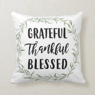 Cojín Decorativo Agradecido, agradecido, bendecido