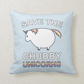 Cojín Decorativo Ahorre los unicornios rechonchos
