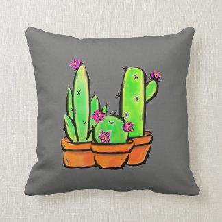 Cojín Decorativo Alegría del cactus - tonalidad caliente