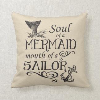 Cojín Decorativo Alma de una sirena, boca de un marinero