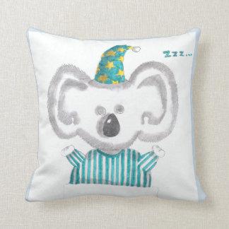 """Cojín Decorativo """"Almohada de tiro de la koala el dormir"""""""