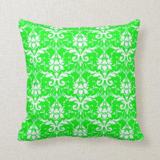 Cojín Decorativo ALMOHADA, verde lima y blanco del MODELO del