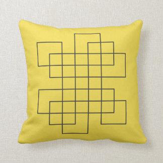 Cojín Decorativo Amarillo del laberinto