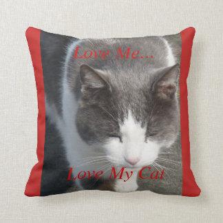 Cojín Decorativo Ámeme amor mi gato
