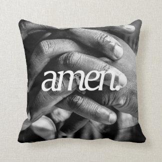 Cojín Decorativo amen. Impresión lateral del diseño 2 religiosos