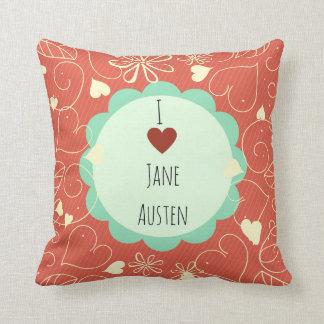 Cojín Decorativo Amo el modelo del naranja de Jane Austen