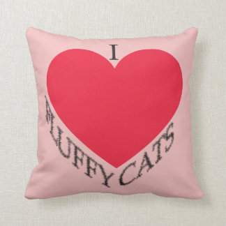 Cojín Decorativo Amo gatos mullidos
