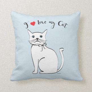 Cojín Decorativo Amo mi gato impresionante, elegante