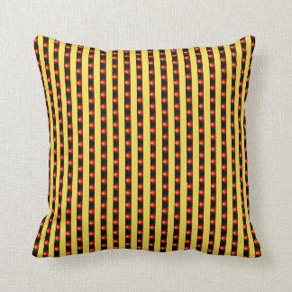Cojín Decorativo Amortiguador amarillo de la raya