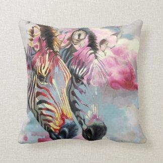 Cojín Decorativo Amortiguador animal moderno de la cebra rosada